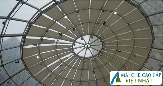 mái che nhà kính, mái bạt căng, mái căng, bạt dây căng, Znet, Ferarri, Sunbrella, Docril, Sunless