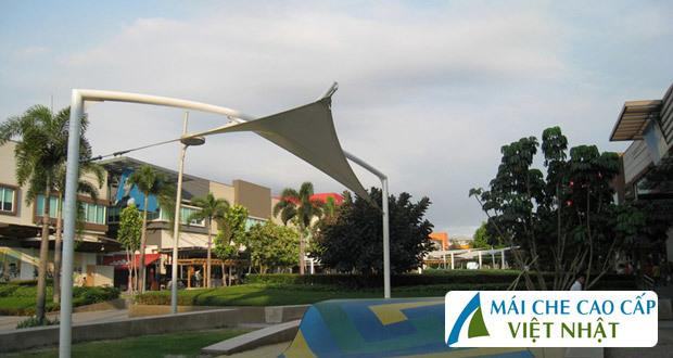 mái che công viên, mái bạt căng, mái căng, bạt dây căng, Znet, Ferarri, Sunbrella, Docril, Sunless