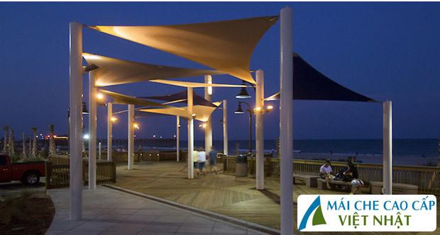 mái che resort, mái bạt căng, mái căng, bạt dây căng, Znet, Ferarri, Sunbrella, Docril, Sunless