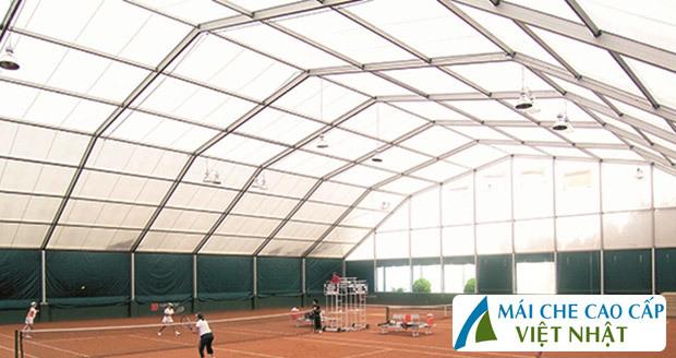 mái che sân tennis, mái bạt căng, mái căng, bạt dây căng, Znet, Ferarri, Sunbrella, Docril, Sunless